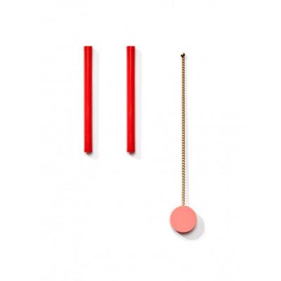 POP Earrings 3   Pink, Red, Gold