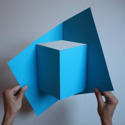 Pop Up Cube Blue