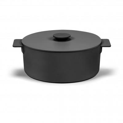 Pot Surface Enamel | Black-15 cm