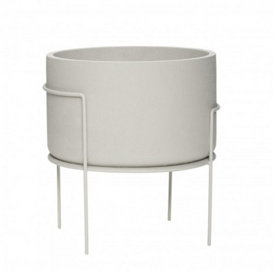 Metal Planter with Legs | Grey