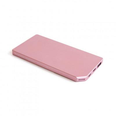 Powerbank Slim 5000 mAh Aluminium | Rosa