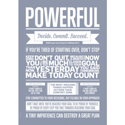 Love Typography Poster | Powerful