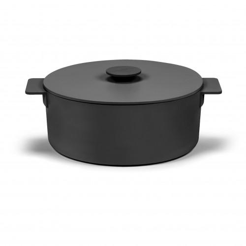 Topfoberflächen-Emaille   Schwarz-15 cm