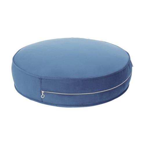 Sitzkissen Samt | Blau