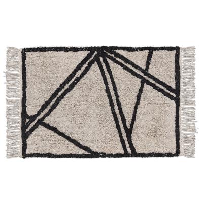 Teppich | Natur & Schwarz