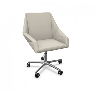 Sessel Prism Aluminiumfuß / verchromte Räder | Beige