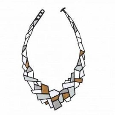 Necklace Prisms | Blue Red & Cream White