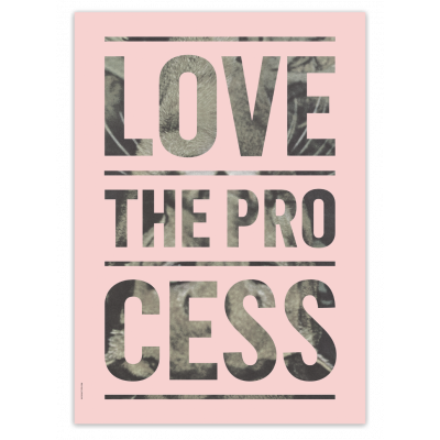 Love The Process Poster | Hellrosa -