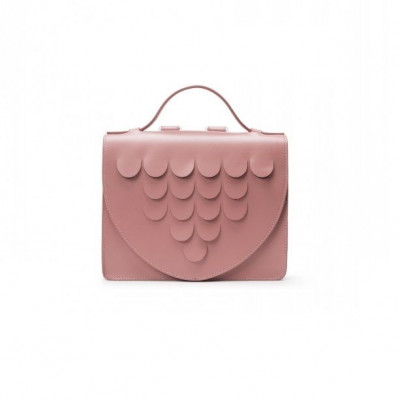 Leather Briefcase | Pink