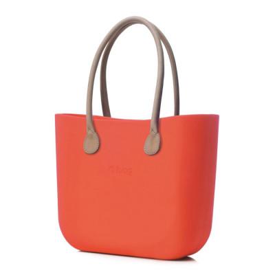 O Tasche braune Ledergriffe   Apricot