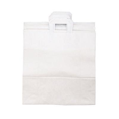 Papiertüte - Satz mit 4 weißen Tüten