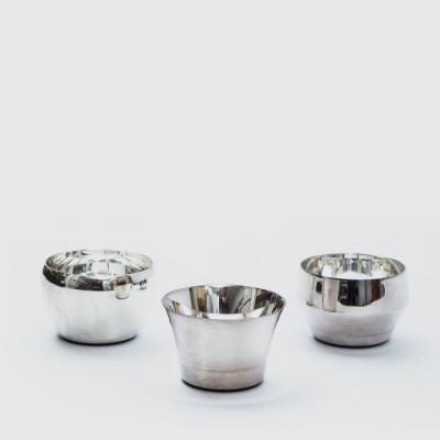 Kin Teelichthalter Set/3 | Silber