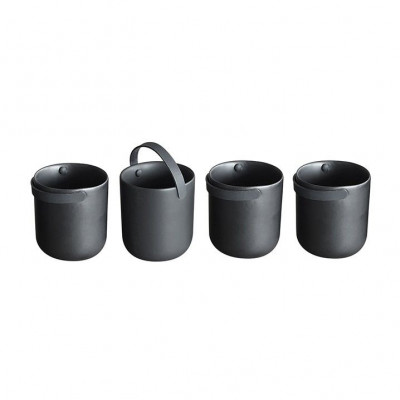 Keramik-Kaffeetassen Schwarzen   4er-Set