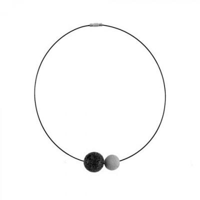 Halskette PROXIMITY | Grau & Schwarz