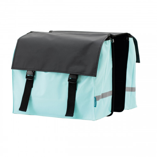 Bicycle Bag   Black & Ocean Blue