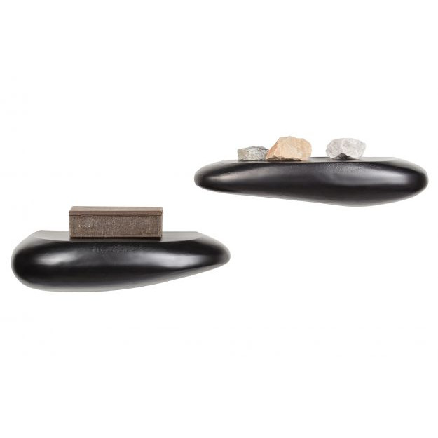 Wall Shelf Rock 54 cm   Metal Black