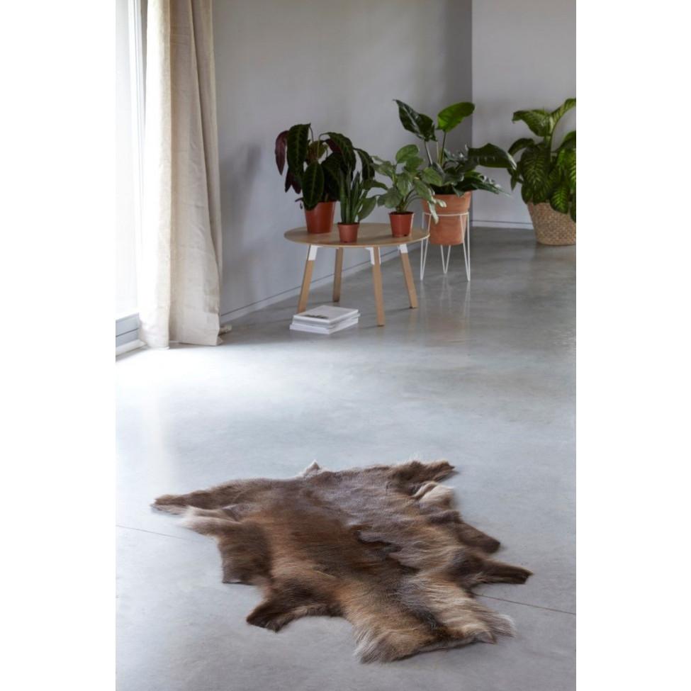 Rentier-Teppich | Dunkelbraun