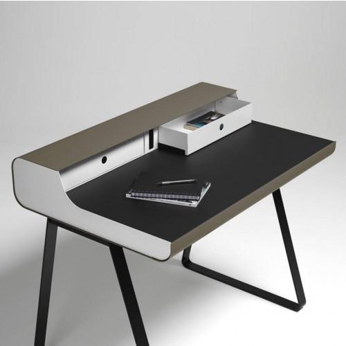 PS 10 Essenz Sekretärin Tisch | Weiß/Schwarz/Taupe