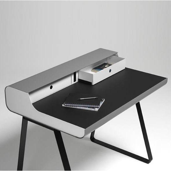 Schreibtisch PS 10 Essenz   Weiß/Schwarz/Grau