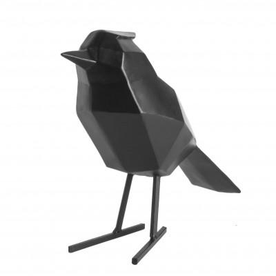 Origami-Statue   Groß   Vogel   Schwarz