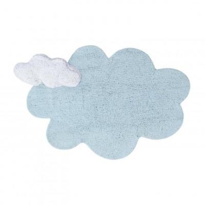 Waschbarer Teppich | Puffy Dream Blau