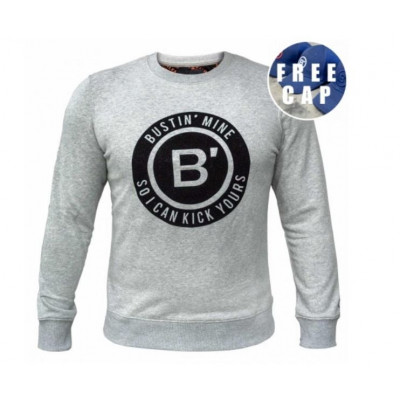 BVLLIN Bustin' Sweater + Free Cap   Grey / Black