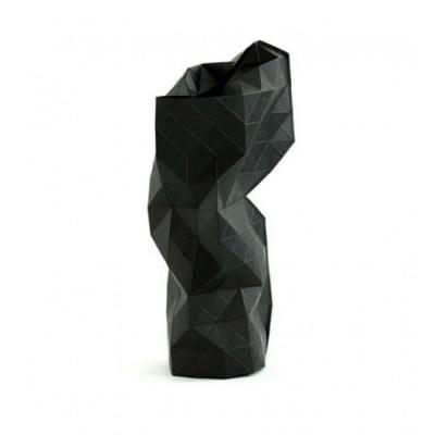 Papier Vase Abdeckung | Schwarz