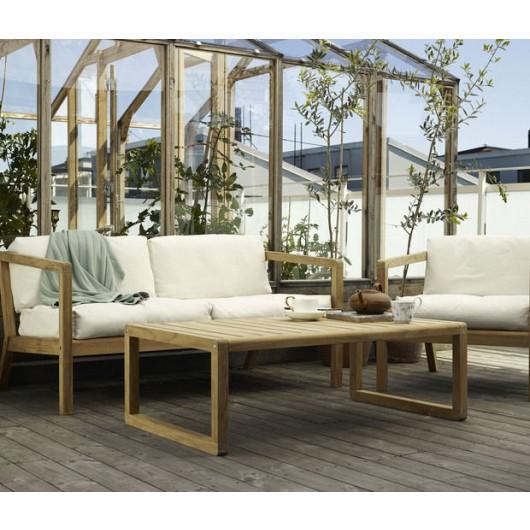 Outdoor-Sofa Virkelyst | Holzkohle