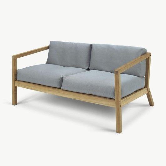 Outdoor-Sofa Virkelyst | Grau