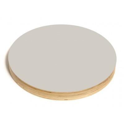 Runde Kreide- und Magnettafel | Grau