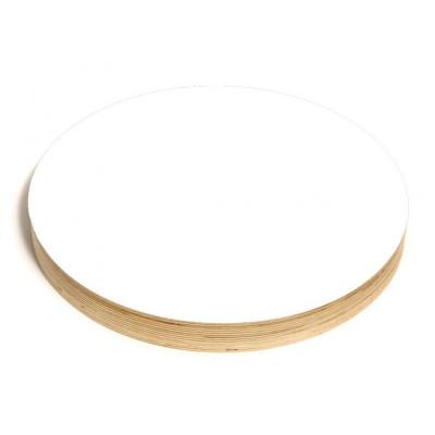 Runde Kreide- und Magnettafel | Weiß