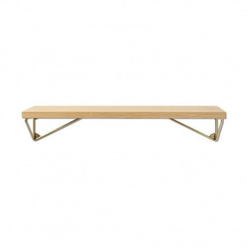 Shelf Pythagoras XS | Oak + Brass Brackets