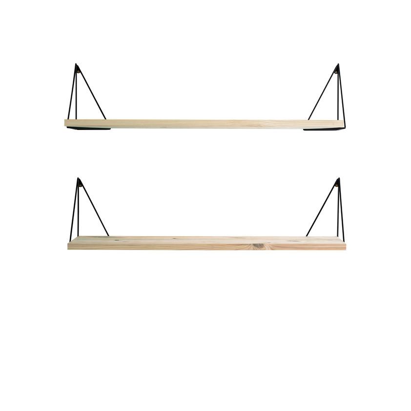 Shelf Pythagoras Play Set of 2   Wood / Black