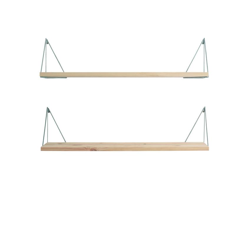 Shelf Pythagoras Play Set of 2 | Wood / Chrome