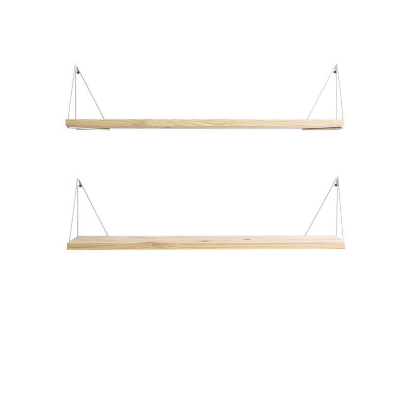Shelf Pythagoras Play Set of 2   Wood / White