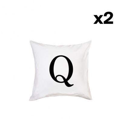 2er-Set Kissenbezügen | Q
