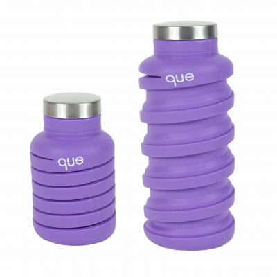 Collapsible Water Bottle   Purple