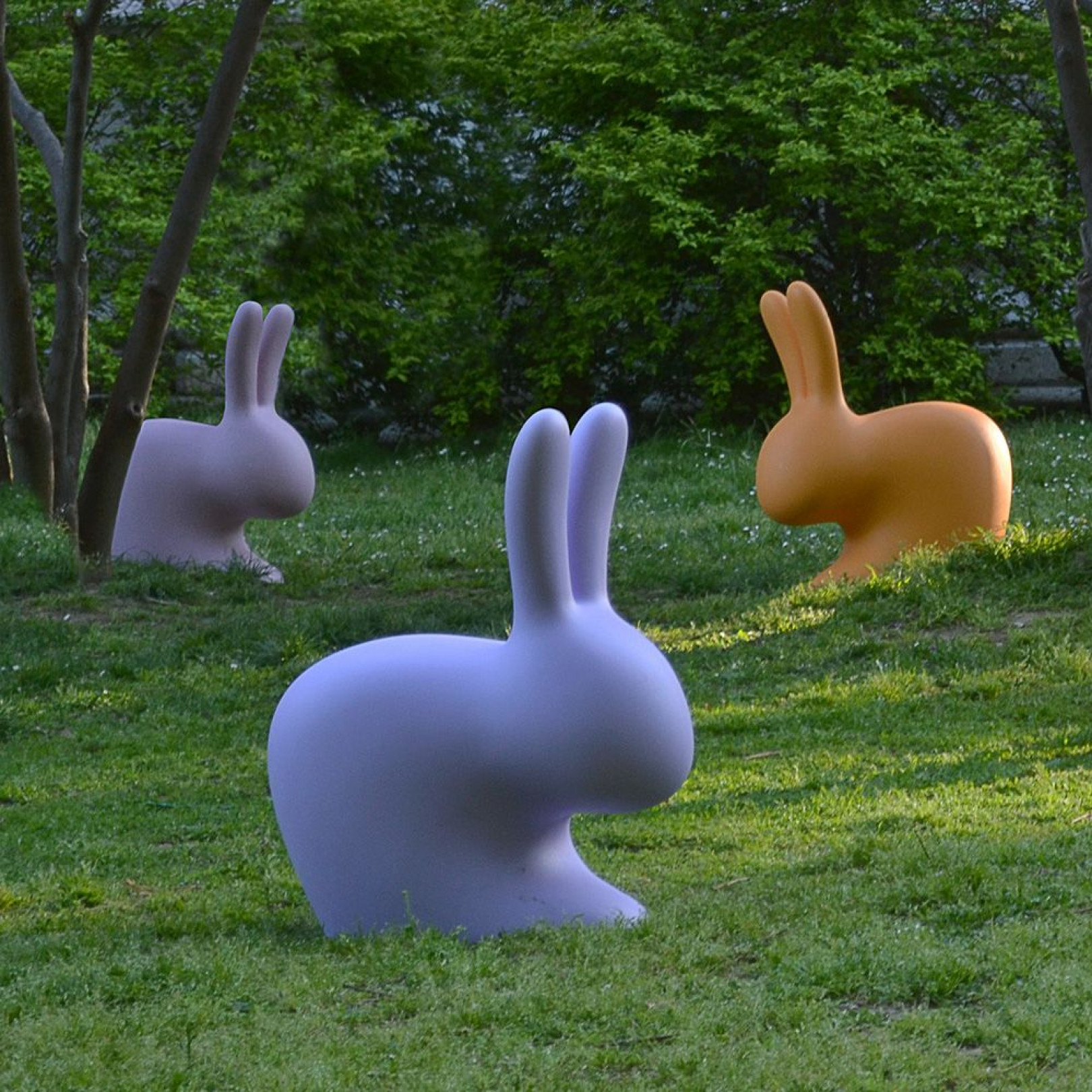 Kinderstuhl Kaninchenbaby   Taubengrau