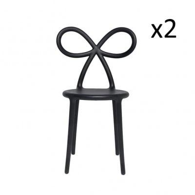 Stuhlband 2er-Set | Schwarz