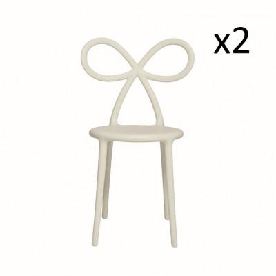 Stuhlband 2er-Set | Weiß