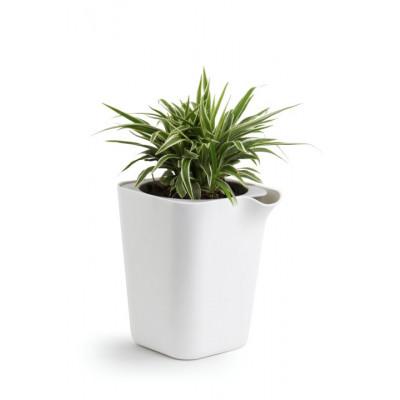 Selbstbewässernder Blumentopf Oasis Viereck S | Weiß