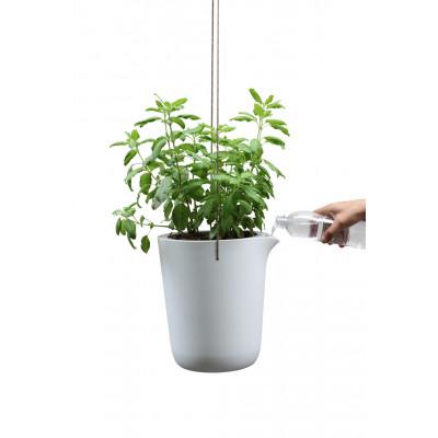 Selbstbewässernder Blumentopf Oasis Rund L | Weiß