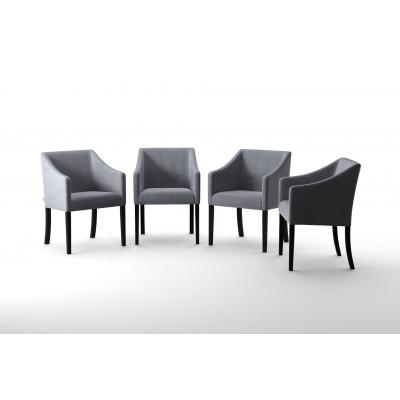 4er-Set Esszimmerstühlen Illusion   Grau