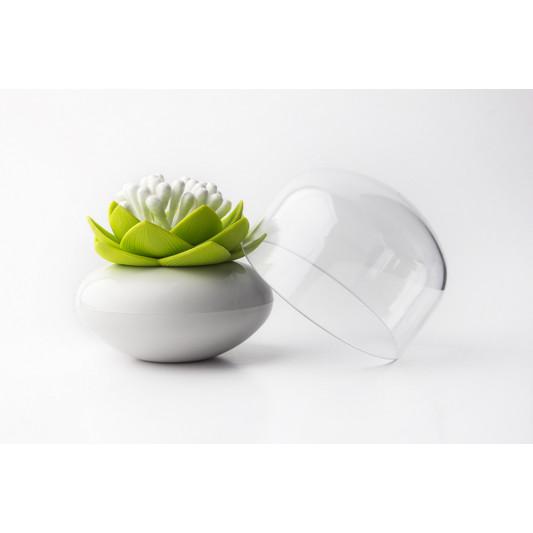 Wattestäbchen Lotus | Weiß/Grün