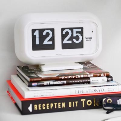 Flip-Clock QT35   Weiß