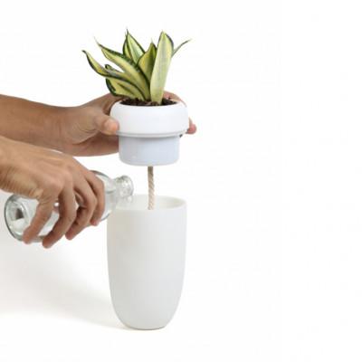 Selbstbewässernder Blumentopf Carepot | Weiß