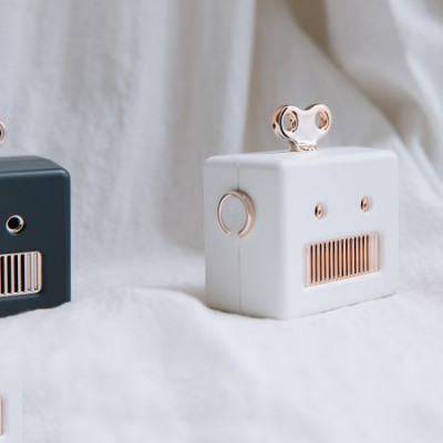 Bluetooth Speaker Robot   White