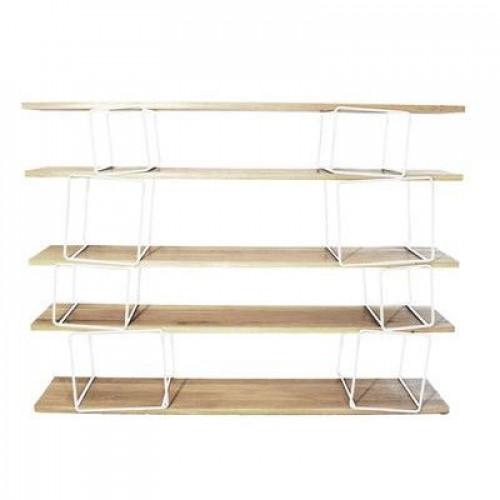 Quake Shelves White & Oak
