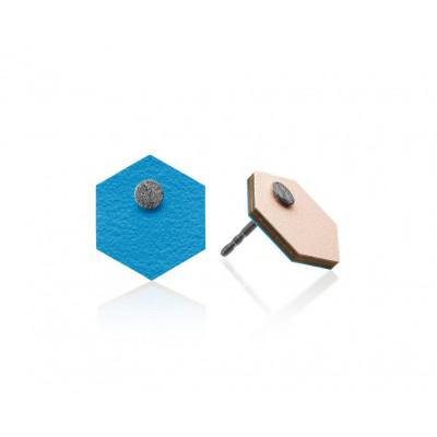 R10 Sechseckige Ohrringe   Rosa/Himmelblau