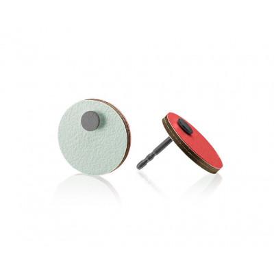 R7 Runde Ohrringe   Mint/Rot